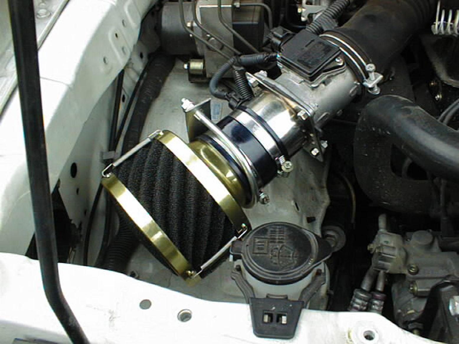 ランクル90プラド 2700ccガソリン(3RZ)用むき出しタイプエアクリーナー『RUSHフィルター』